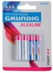 Grundig batterijen alkaline AAA LR03 950 mAh 4 stuks