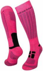 Poederbaas Wintersportsokken - Maat 35-38 - Vrouwen - roze/zwart