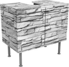 PPS. Imaging Waschbeckenunterschrank - Ashlar Masonry - Steinoptik Badschrank... 55cm x 60cm
