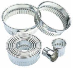 Zilveren Kitchencraft Uitstekerset geribbeld cirkel