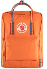 Oranje Fjällräven Fjallraven Kanken Rainbow Rugzak 16 liter - Burnt Orange-Rainbow Pattern