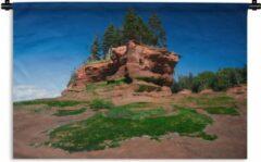 1001Tapestries Wandkleed Fundybaai - Beeld van het Bloempoteiland bij de Fundybaai Wandkleed katoen 60x40 cm - Wandtapijt met foto