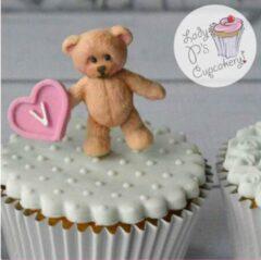 Roze Ardran & Tookar Fondant Teddy Beer Mal - Siliconen Beertje versiering vorm - Teddy Bear Fondant / Marsepein / Chocolade / Zeep - Voor decoratie van taart, cupcakes en cake