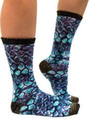 Sock My Feet - Grappige sokken dames - Maat 39-42 - Sock My Reptile - Slangenprint sokken - Funny Socks - Vrolijke sokken - Leuke sokken - Fashion statement - Gekke sokken - Grappige cadeaus - Socks First.
