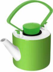 Qdo Cylinder Theepot - 1 l - Porselein - Groen