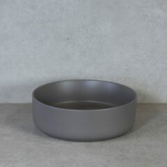 QeramiQ Note opbouw waskom 37x12cm keramisch taupe mat 10401058