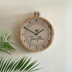 Riviera Maison RM Time Flies Wall Clock - Natural - x x 48.0