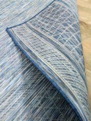 Pergamon In- und Outdoor Teppich Beidseitig Flachgewebe Hampton Blau... 135x190 cm