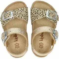 Beige Kipling Nula 1 leren sandalen goud