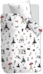 Koraalrode Hanneke de Jager Beddinghouse Kids Paris Girl - Dekbedovertrek - Junior - 120x150 cm + 1 kussensloop 60x70 cm - Pink
