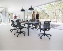 Sedus se:joy Bureaustoel, Vergaderstoel, Designstoel, netbespanning, zwart, universele wielen