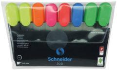 Schneider markeerstift Job 150, etui van 8 stuks in geassorteerde kleuren