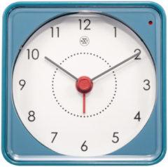 NeXtime 7343BL Alarmklok Nathan blauw 7.3 x 7.3 x 3.3 cm