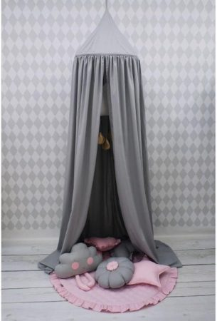 Afbeelding van Antraciet-grijze Dolly Hemeltje Kinderbed - Antraciet