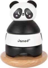 Zwarte Janod Stapeltuimelaar panda 15 cm