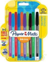 Papermate Paper Mate balpen InkJoy 100 met dop, blister 8 + 2 gratis