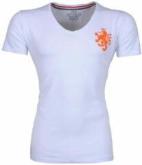 New Republic EK Voetbal 2021 - Heren T-shirt - Hollandse Oranje Leeuw op de borst - Wit