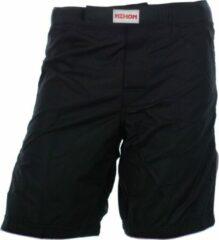 Witte Nihon MMA/Kickboksbroek (zwart) KB stijl roze rand maat XL