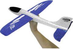 Blauwe Jamara Werpvliegtuig Pilo Foam Junior Wit 46 Cm