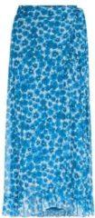 Fabienne Chapot gebloemde rok Bobo van gerecycled polyester creme/ blauw