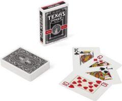 Dal Negro Speelkaarten Texas 8,9 Cm Pvc Zwart 55-delig