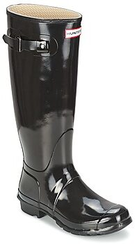 Afbeelding van Zwarte Hunter Women's Original Tall Gloss Wellies - Black - UK 3 - Black