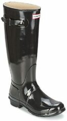 Zwarte Hunter Women's Original Tall Gloss Wellies - Black - UK 3 - Black