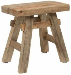 Xenos Krukje recycle Ubud - hout - 45x27x45 cm