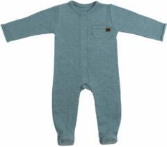 Groene Baby's Only Boxpakje met voetjes Melange - Stonegreen - 56 - 100% ecologisch katoen - GOTS