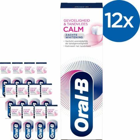 Afbeelding van Oral-B Gevoeligheid & Tandvlees Calm Zachte Whitening Tandpasta 12x75 ml - Voordeelverpakking