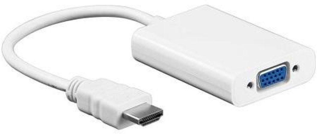 Afbeelding van Goobay HDMI - VGA/3.5mm, M/F VGA + 3.5mm Wit kabeladapter/verloopstukje