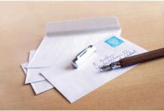Envelop Raadhuis 162x229 C5 dienst plakstrip wit 80gr 50 stuks