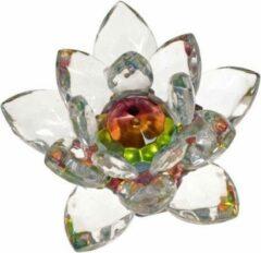 Transparante Yogi & Yogini Kristal Lotus Middel