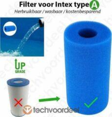 Blauwe Merkloos / Sans marque Intex Filter Type A Cartridge - Wasbaar & Herbruikbaar - Zwembad onderhoud - Intex A - Techvoordeel®