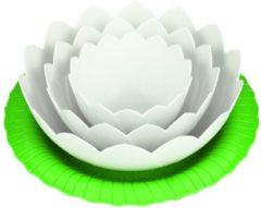 Witte Zak!designs kitchen&garden bloemschaaltjes met onderzetter wit - zak! Designs