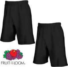 Zwarte Fruit of the Loom (2 Pack) Korte Broeken Zwart Maat L