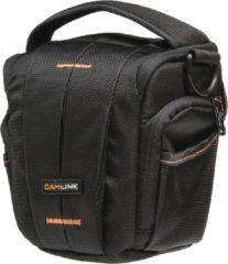 CamLink CL-CB31 Schoudertas Zwart, Oranje cameratassen en rugzakken
