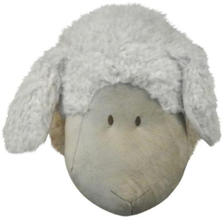 Afbeelding van Witte Fluffy Stuff Mars & More - Knuffel - Schapenkop - Groot