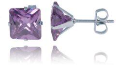 Paarse LGT JWLS LGT Jewels Stud oorbellen Edelstaal Classic Purple 6mm
