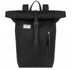 Sandqvist Dante Backpack black with black leather
