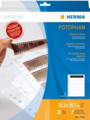 HERMA Negative pockets transparent for 7 x 5 negative stripes 25 pcs. (7761)