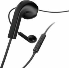 """Hama Koptelefoon """"Advance"""", earbuds, microfoon, platte kabel, zwart"""