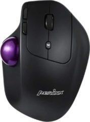 Zwarte Perixx Perimice 720 ergonomische trackball muis met verstelbare hoek (Draadloos, 2.4G, Bluetooth)