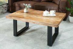 Zwarte Merkloos / Sans marque Salontafel Nairobi 100cm natuurlijk Mango-hout