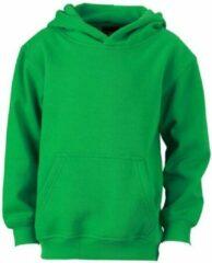Groene James & Nicholson James and Nicholson Kinderen/Kinderkapjes Sweatshirt (Fern Green)