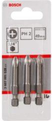 Bosch Schrauberbit Extra-Hart, PH 2, 49 mm, 3er-Pack VPE: 5