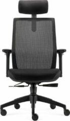 BenS 837H-Ergo-4 - Ergonomische Bureaustoel met alle instel opties en Hoofdsteun - Voldoet aan EN1335 en de Arbo-normen Zwart