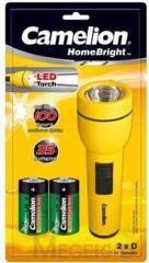 Camelion Zaklamp FL1DB2R20P Torche with 2 x R20 Batteries LED - Cameli