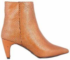 Oranje Roberto d'Angelo schoenen enkellaarzen Cognac