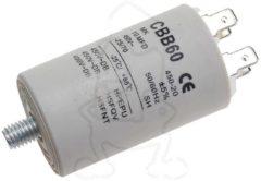 KUEPPERSBUSCH Kondensator 10,00µF 450V (mit 6,3 mm AMP-Doppelsteckfahnen & Bodenbefestigungsschraube M8) für Waschmaschinen AV0804